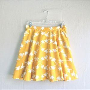 Anthropologie Charlotte Yellow Half Circle Skirt